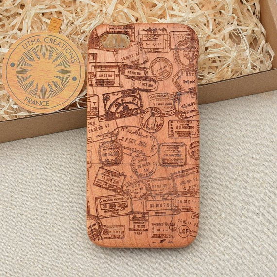 Travel the world with this elegant travel stamps iPhone case (starting at $16).