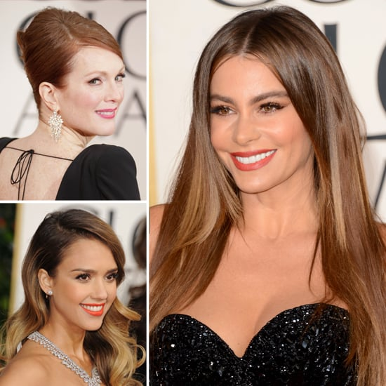 2013 Golden Globe Awards Trends: Waves, Ponytails, Intense Eyeliner