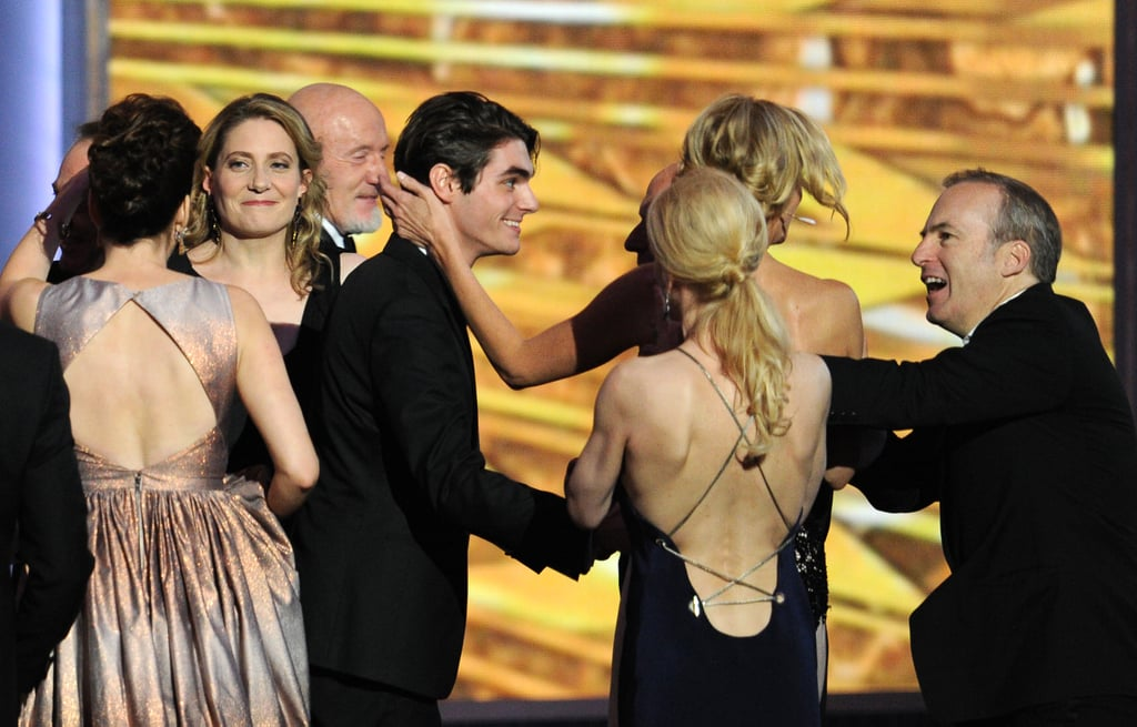 RJ Mitte took the stage to celebrate with his costars.