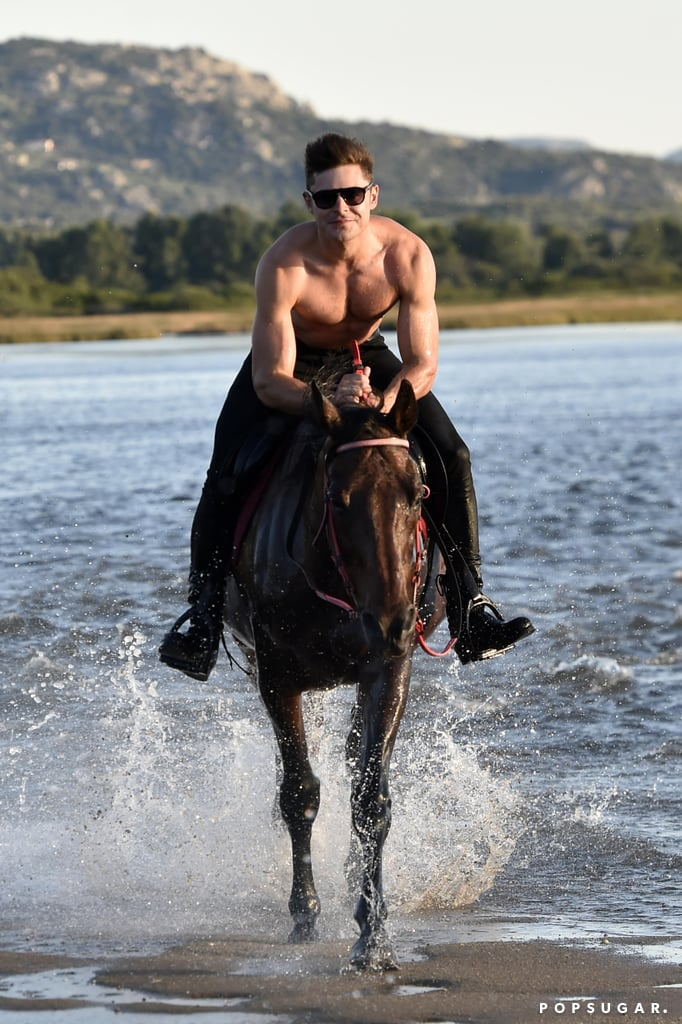 Let Shirtless Zac Efron Ride His Horse Straight Into Your Heart