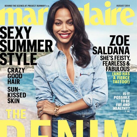 Zoe Saldana Interview in Marie Claire August 2014