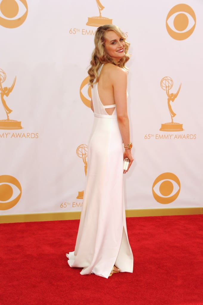 Taylor Schilling dazzled in a white Thakoon gown at the 2013 Emmy Awards.