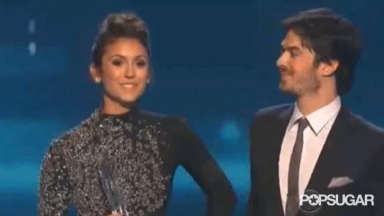 Ian Somerhalder and Nina Dobrev Give Us Hope at the People's Choice Awards
