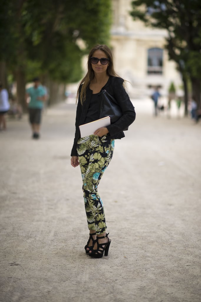Revamp your casual gear with printed pants, then add in all of your favorite black tees and layers to make the pattern pop even more.