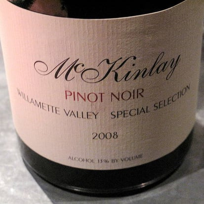 Wine Review: 2008 McKinlay Special Selection Willamette Valley Pinot Noir
