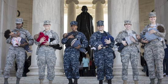 7 Powerful Photos Of Military Moms Breastfeeding In Uniform