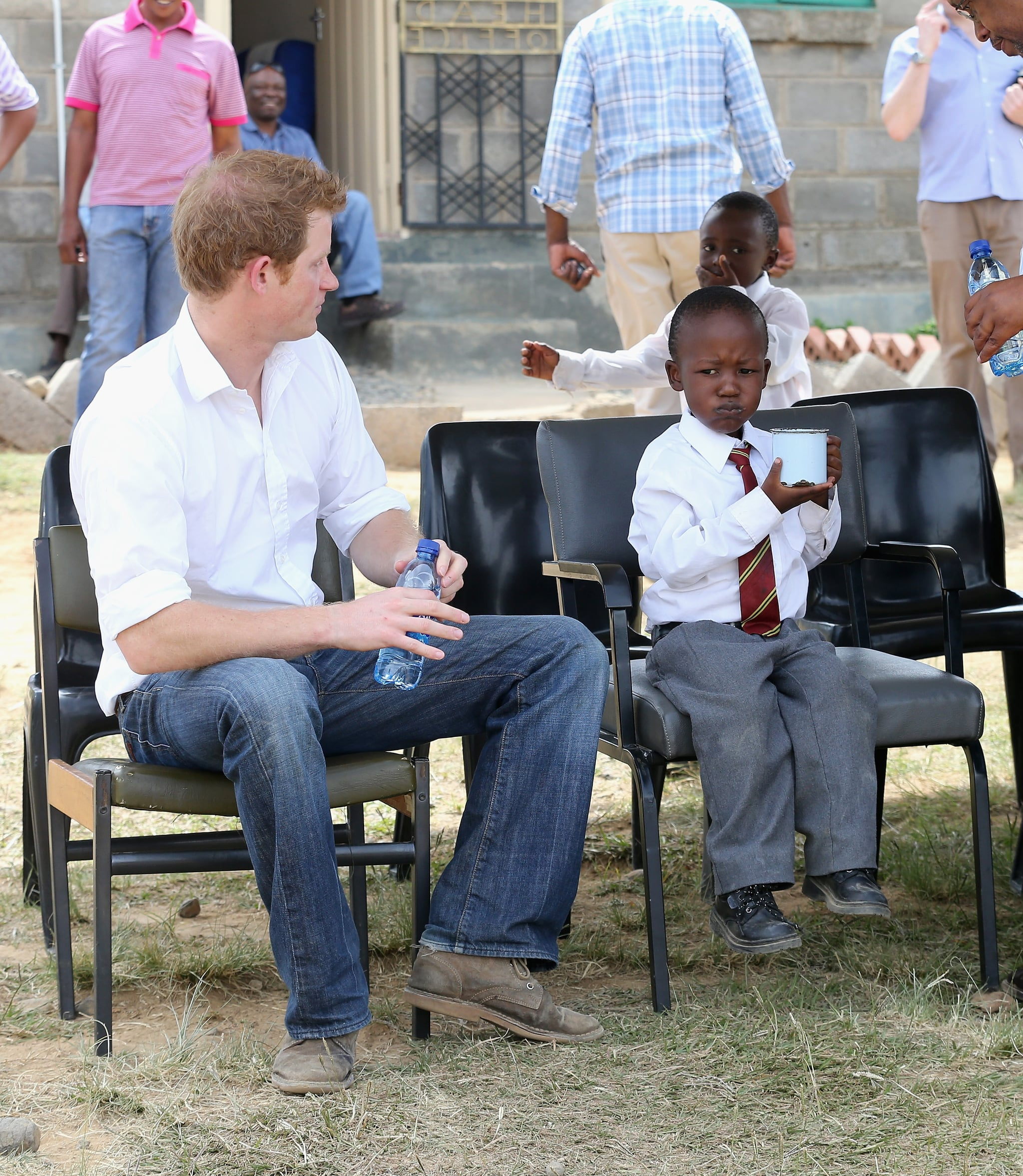 Prince Harry Dances, Giggles, and Cooks With Children in Africa