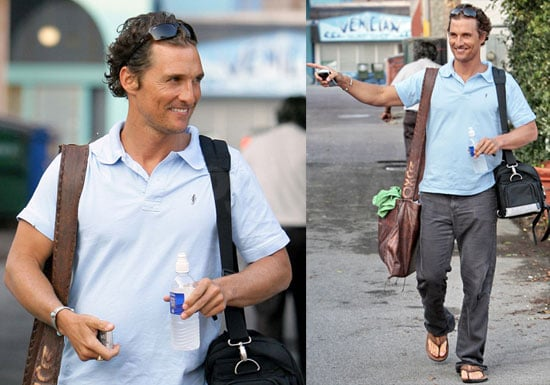 Photos of Matthew McConaighey After Getting Drunk in Nicaragua