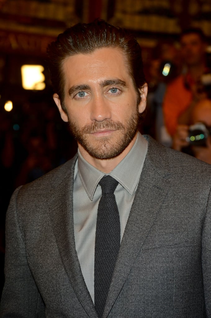 Jake Gyllenhaal groomed his signature scruff for the premiere.