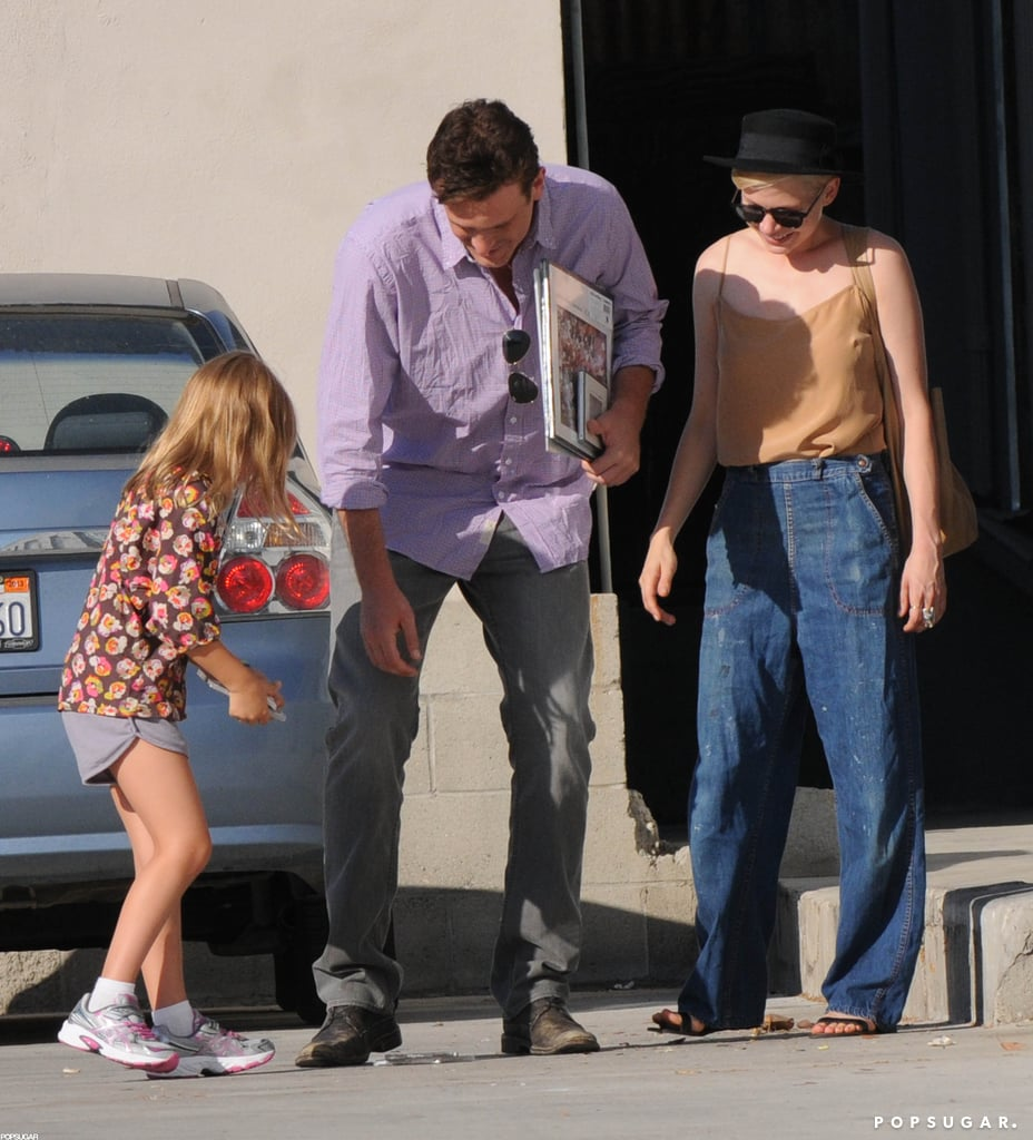 Jason Segel and Matilda Ledger laughed with Michelle Williams in LA.