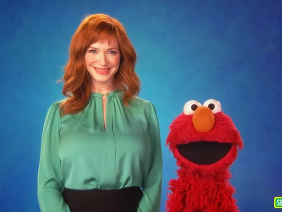 Christina Hendricks and Elmo Talk Technology on Sesame Street