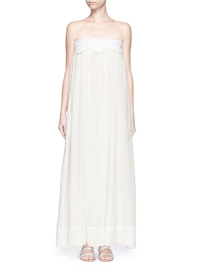 Lila Eugenie Macrame Lace Cotton-Silk Maxi Dress ($300)