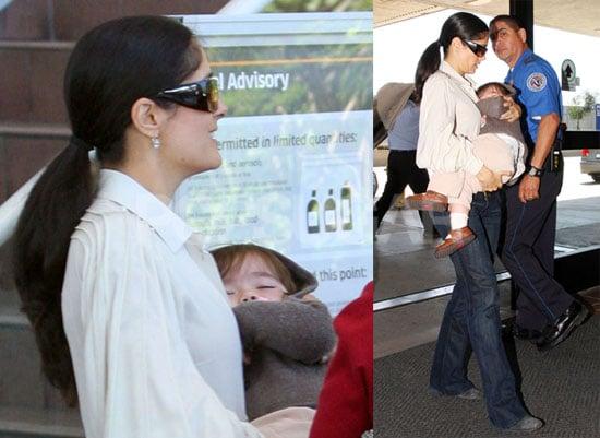 Photos of Salma Hayek and Valentina Pinault at LAX