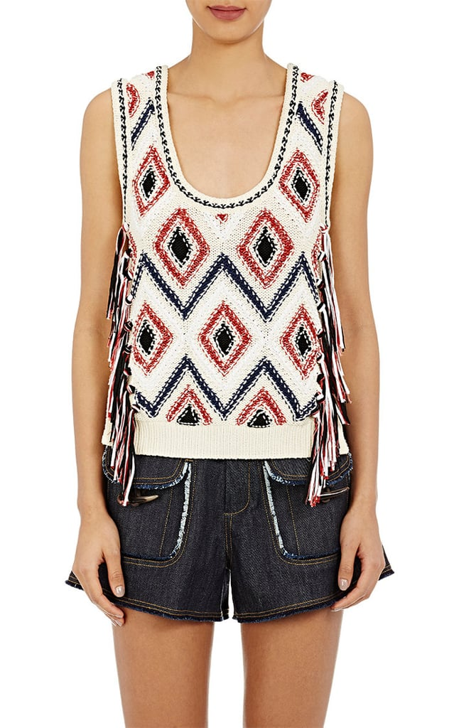 Derek Lam 10 Crosby Women's Tassel-Trimmed Sweater Vest-White ($395)
