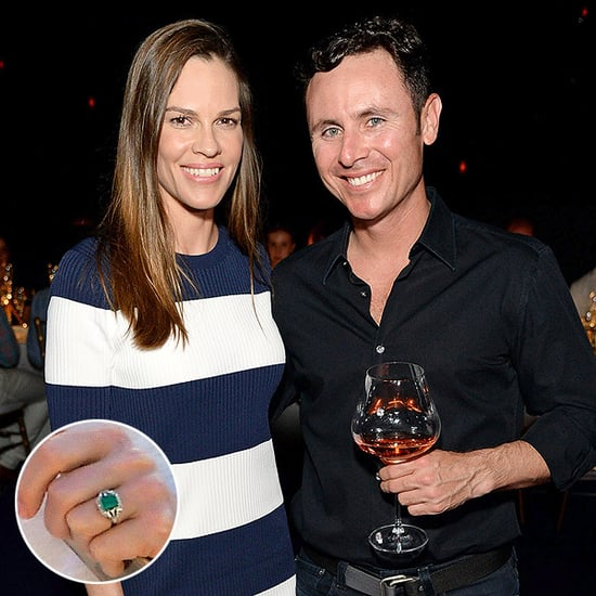 Hilary Swank's Huge Emerald Engagement Ring Needs to Be Seen Up Close (PHOTO)