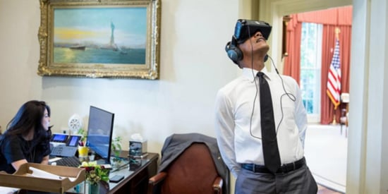 Obama Looks Just As Awkward Wearing A Virtual Reality Headset As You Do