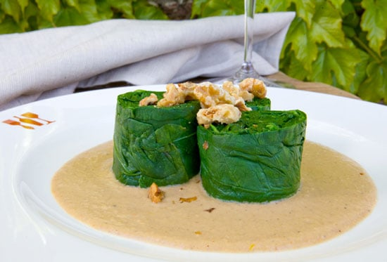 Chef Greg Higgins Recipe for Spinach With Lemon Walnut Sauce