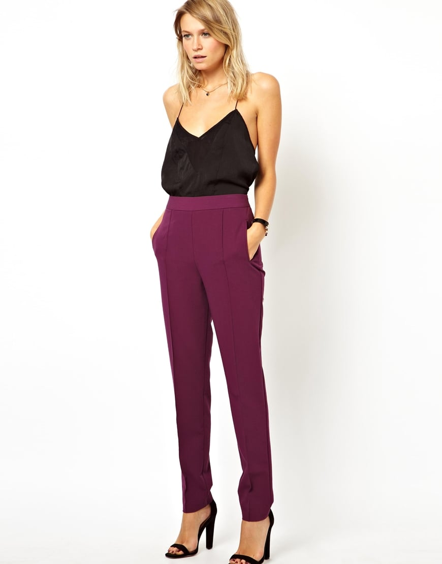 These ASOS high-waisted pants ($39) are washed in a perfectly rich Fall color.