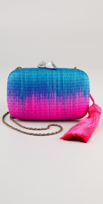 This dip-dyed box clutch injects seriously standout color in the prettiest handheld silhouette.  Serpui Marie Marrakesh Minaudiere ($187)