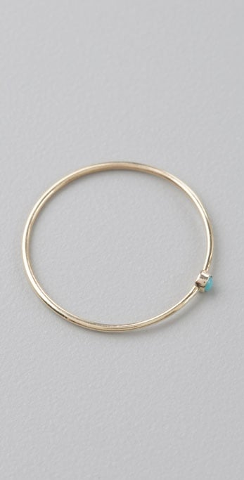 Jennifer Meyer Stackable Ring With Turquoise ($125)