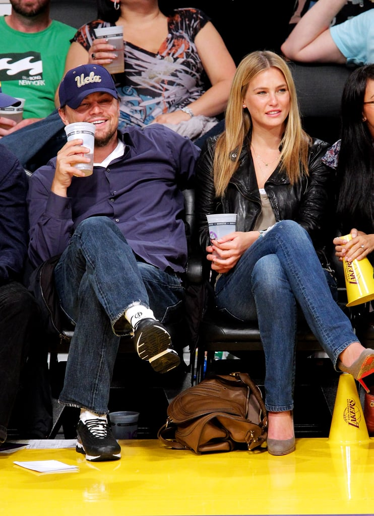 Leonardo DiCaprio treated his then-girlfriend Bar Refaeli to courtside seats at a Lakers game in April 2010.