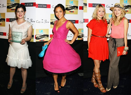Kelly Osbourne, Myleene Klass and Sam and Amanda Marchant at LK High Street Fashion Awards