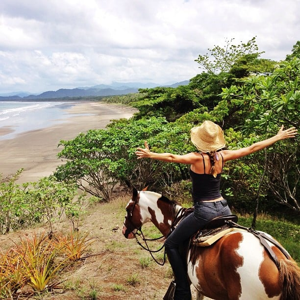 Gisele Bündchen shared a beautiful photo while horseback riding to the beach. Source: Instagram user giseleofficial