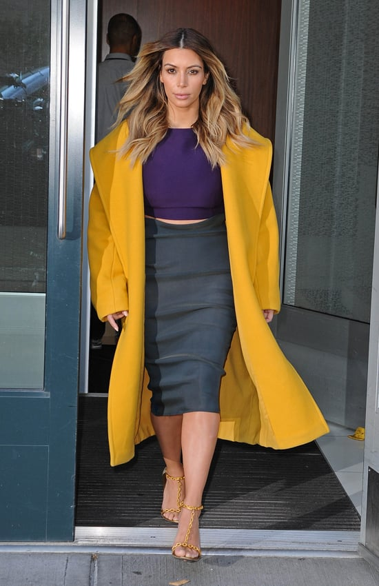 Kim Kardashian Exiting Her New York Apartment