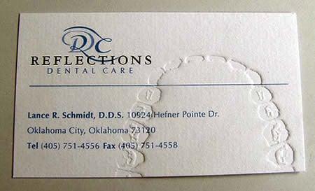 A dentist's business card.