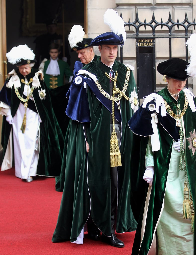 Prince William got dressed up for the Thistle Ceremony in Scotland.