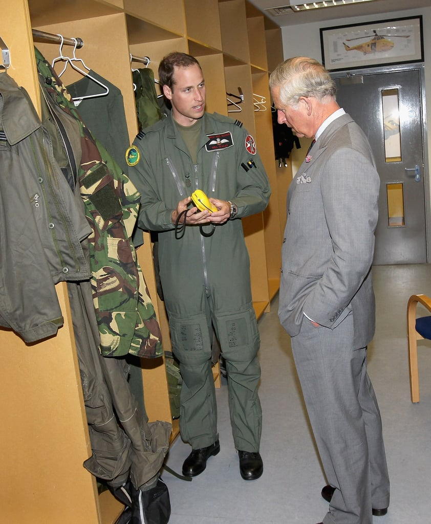 Prince William showed off some of his gear.