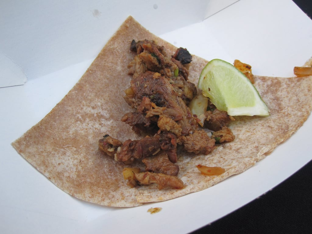 I devoured a barbecued lamb taco.