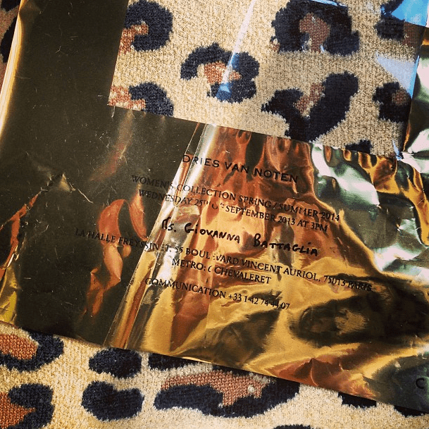 Dries Van Noten's crinkled invite was a sign of things to come. Source: Instagram user bat_gio