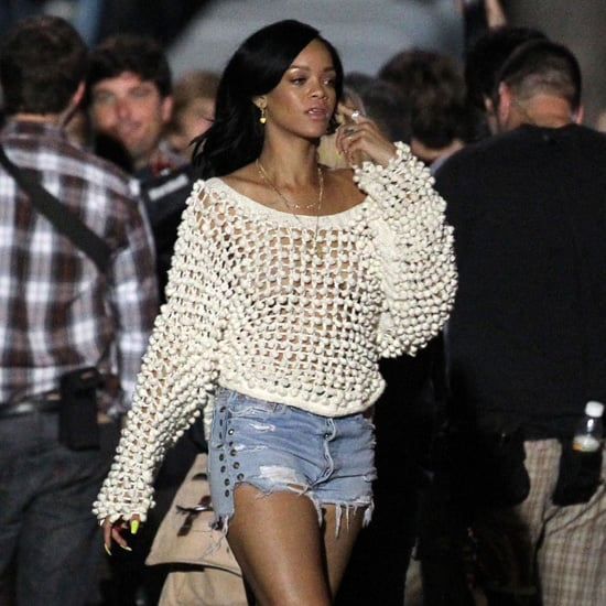 Rihanna Emma Watson Pictures on End of the World Set