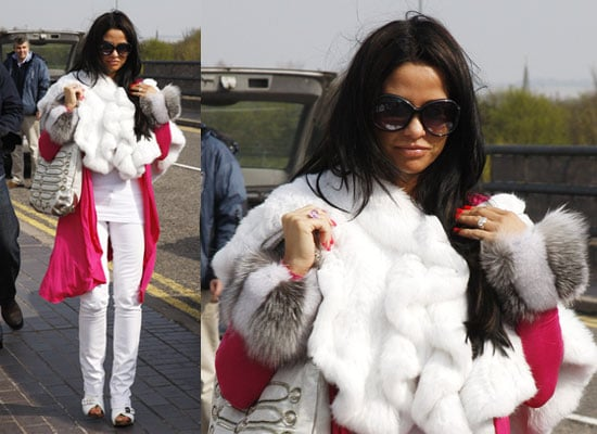 Photos of Katie Price at Gatwick Airport After Pulling Out of London Marathon Sparking More Pregnancy Rumours