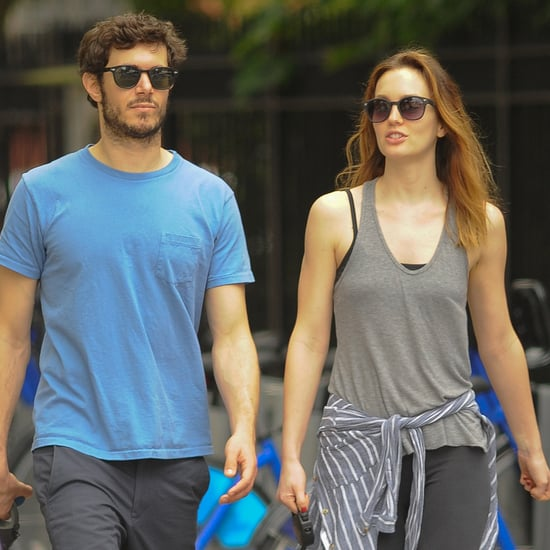 Leighton Meester and Adam Brody Walking Their Dogs