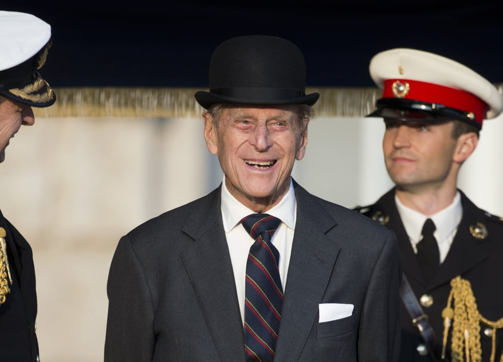 The royal attended a ceremony of Beating Retreat performed by the Massed Bands of the Royal Marines at Horse Guards in London in May 2016.