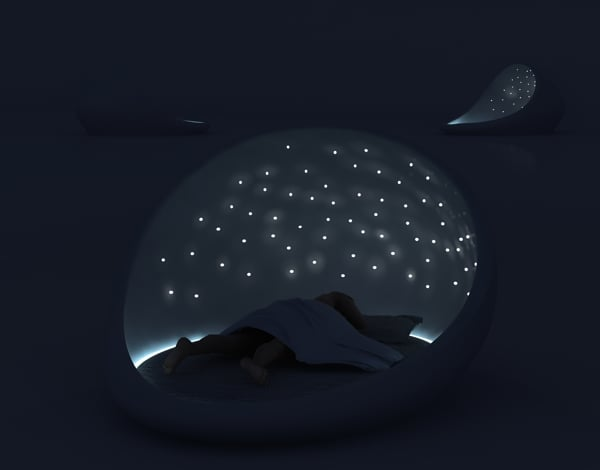 Cosmos Bed — Nighttime