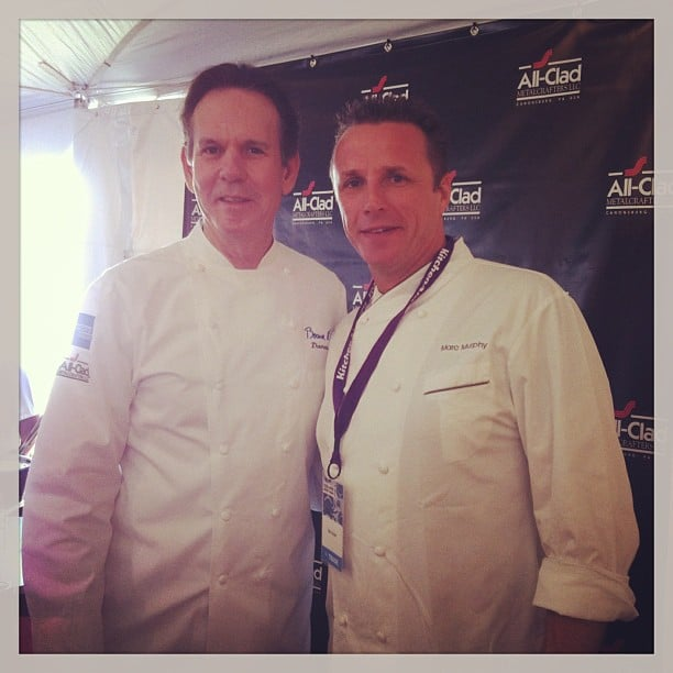 Chef Marc Murphy got to spend some hang time with Thomas Keller.  Source: Instagram user chefmarcmurphy