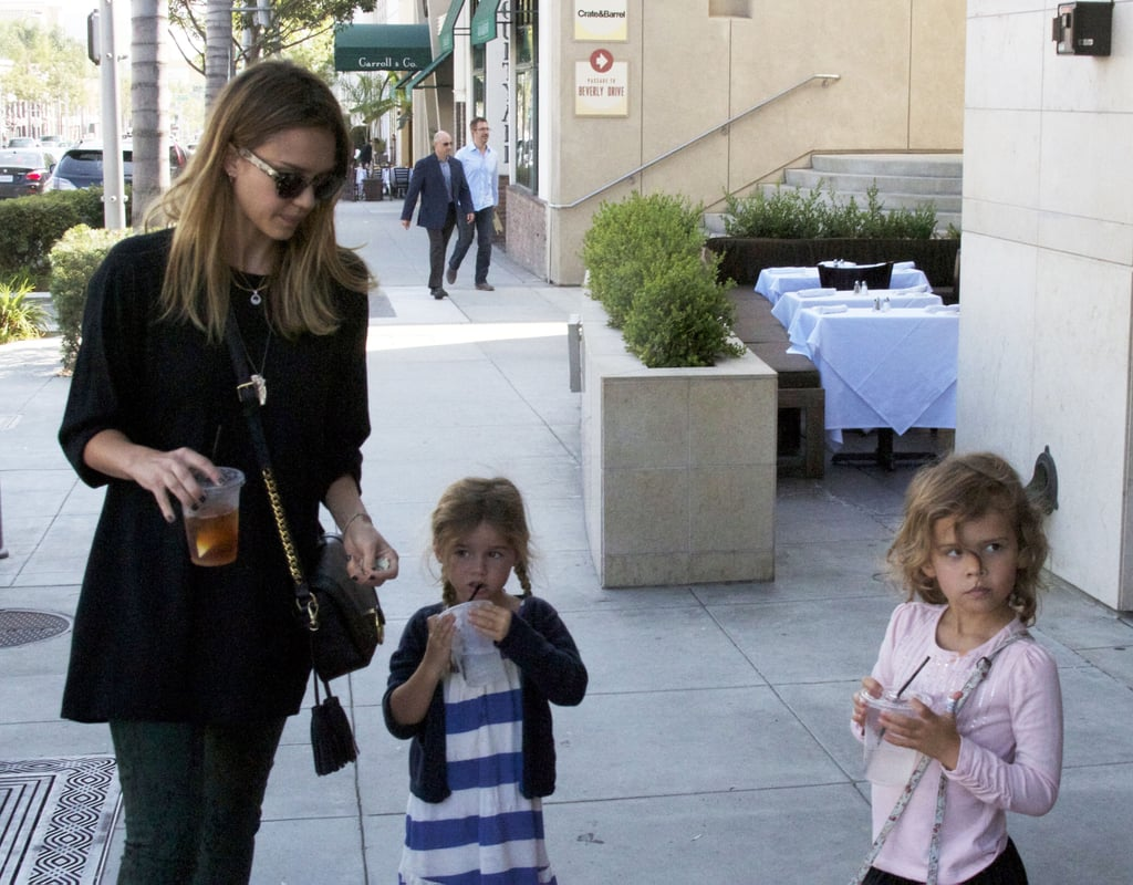 Jessica Alba spent time with Honor and her small friend in LA.