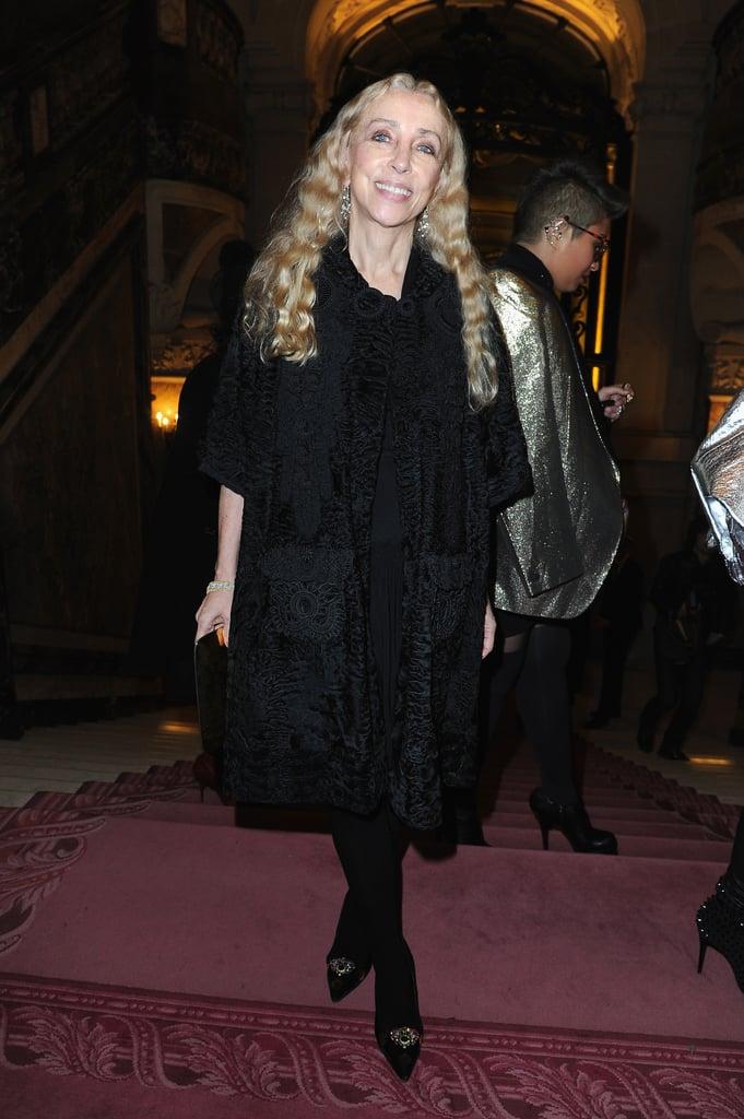 Franca Sozzani at the Atelier Versace Paris Haute Couture show.