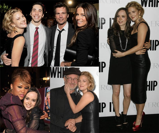Photos of Drew Barrymore, Ellen Page, Steven Spielberg, Justin Long, Eve, Juliette Lewis at Whip It Premiere in LA