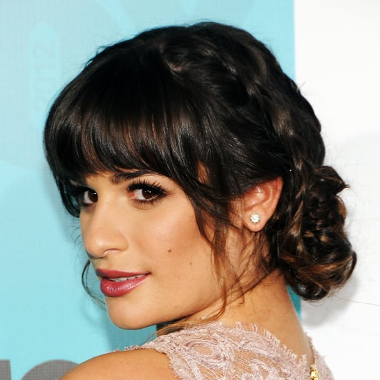 How to Style Blunt Bangs With a Bun