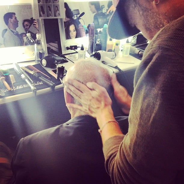 Is that Max Azria in the styling chair?