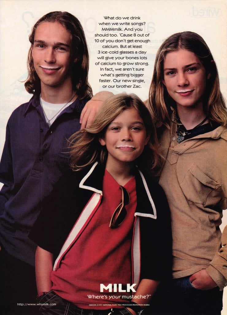 """The Hanson brothers were featured during their """"MmBop"""" days."""
