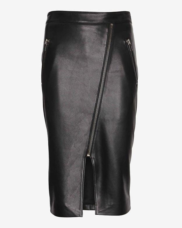 Mason by Michelle Mason Slit Leather Skirt