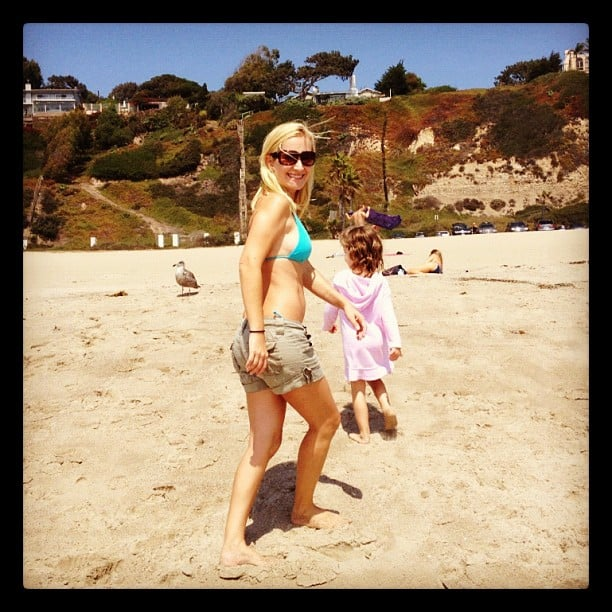 Angela Kinsey took her daughter to the beach. Source: Instagram user angekinz
