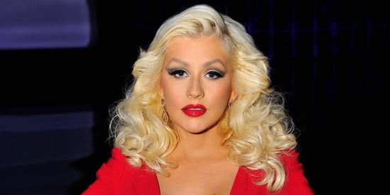 Christina Aguilera Stuns In Low-Cut Red Dress At Breakthrough Prize Awards