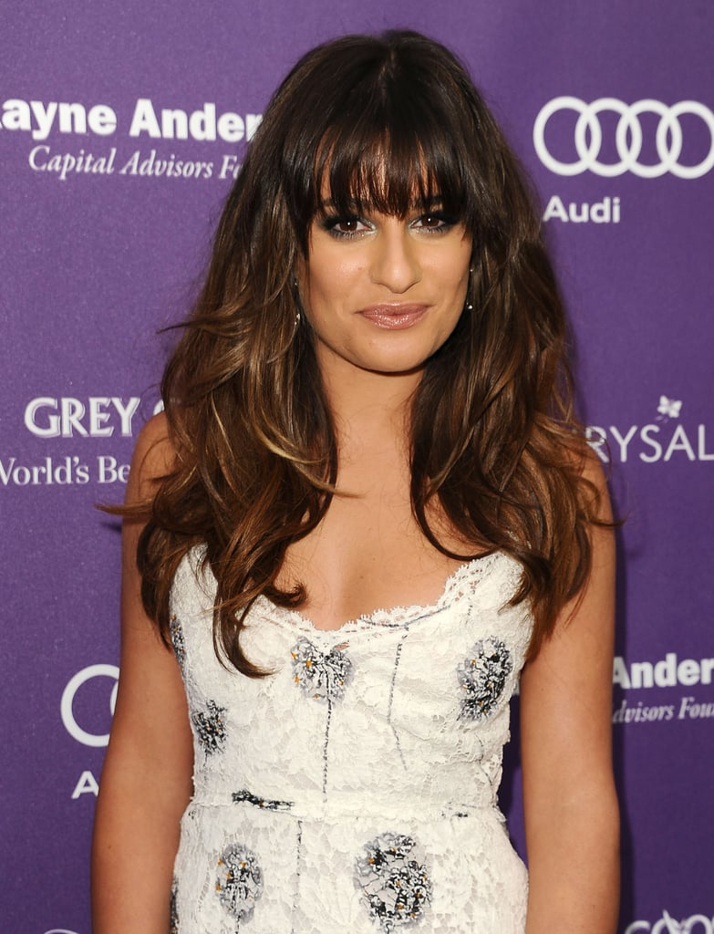 Lea Michele's sexy waves looked even better when paired with grown-out bangs.