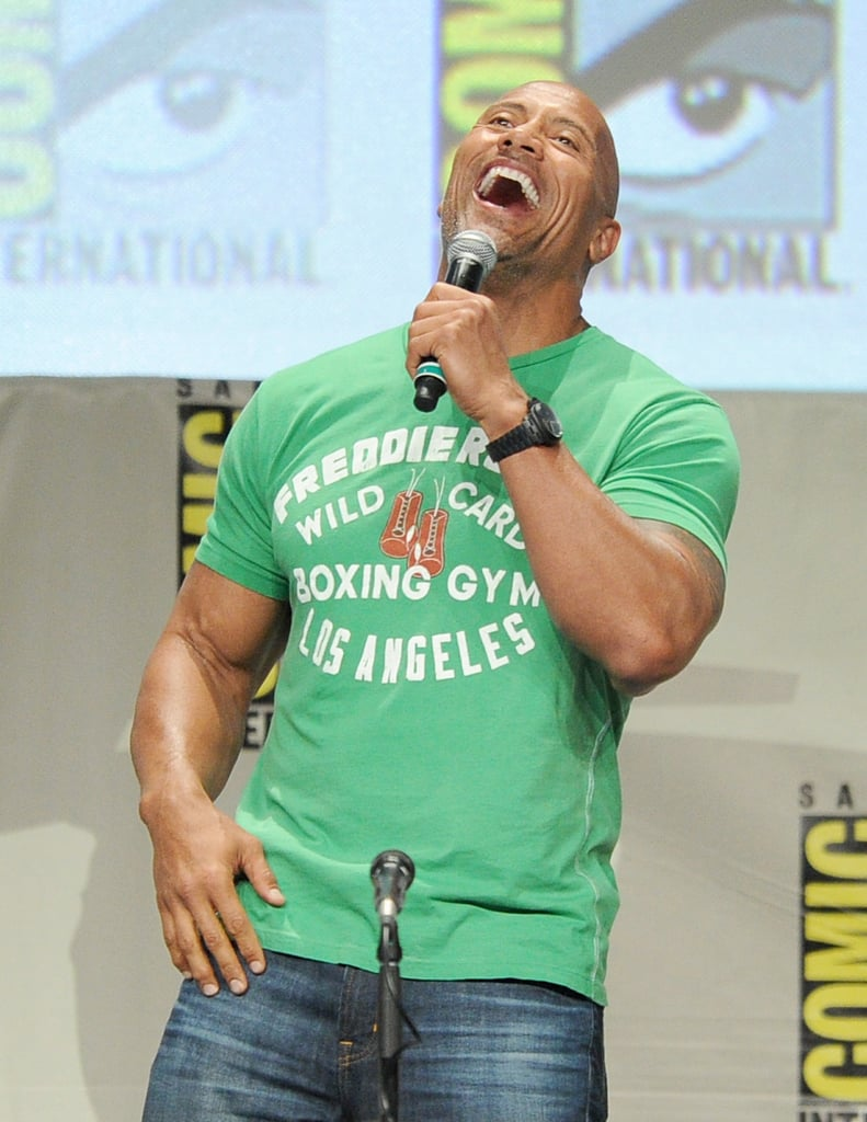 "Dwayne ""The Rock"" Johnson had a blast on stage on Thursday."